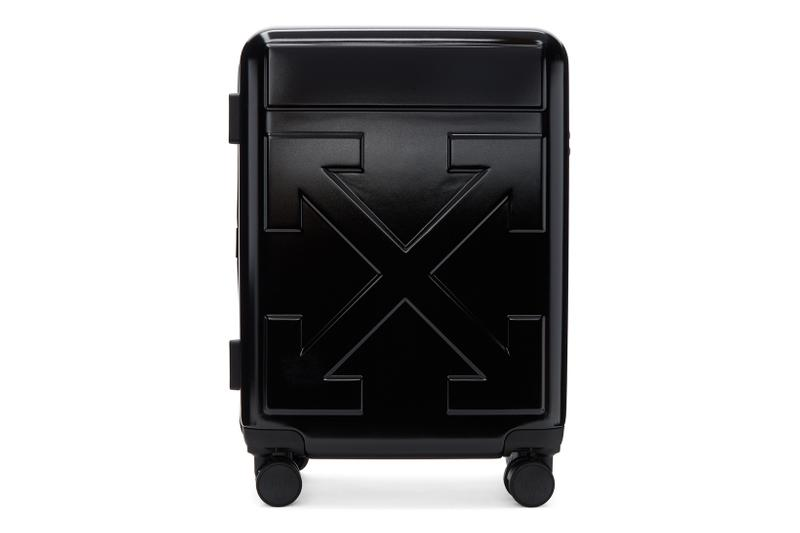 off white for travel arrow trolley suitcase luggage bags designer