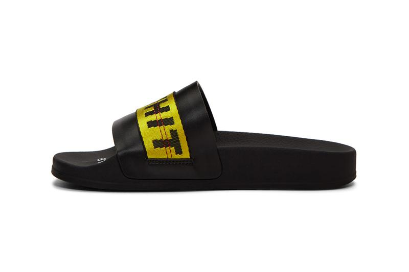 Off White Industrial Belt Strap Sandals Black Yellow