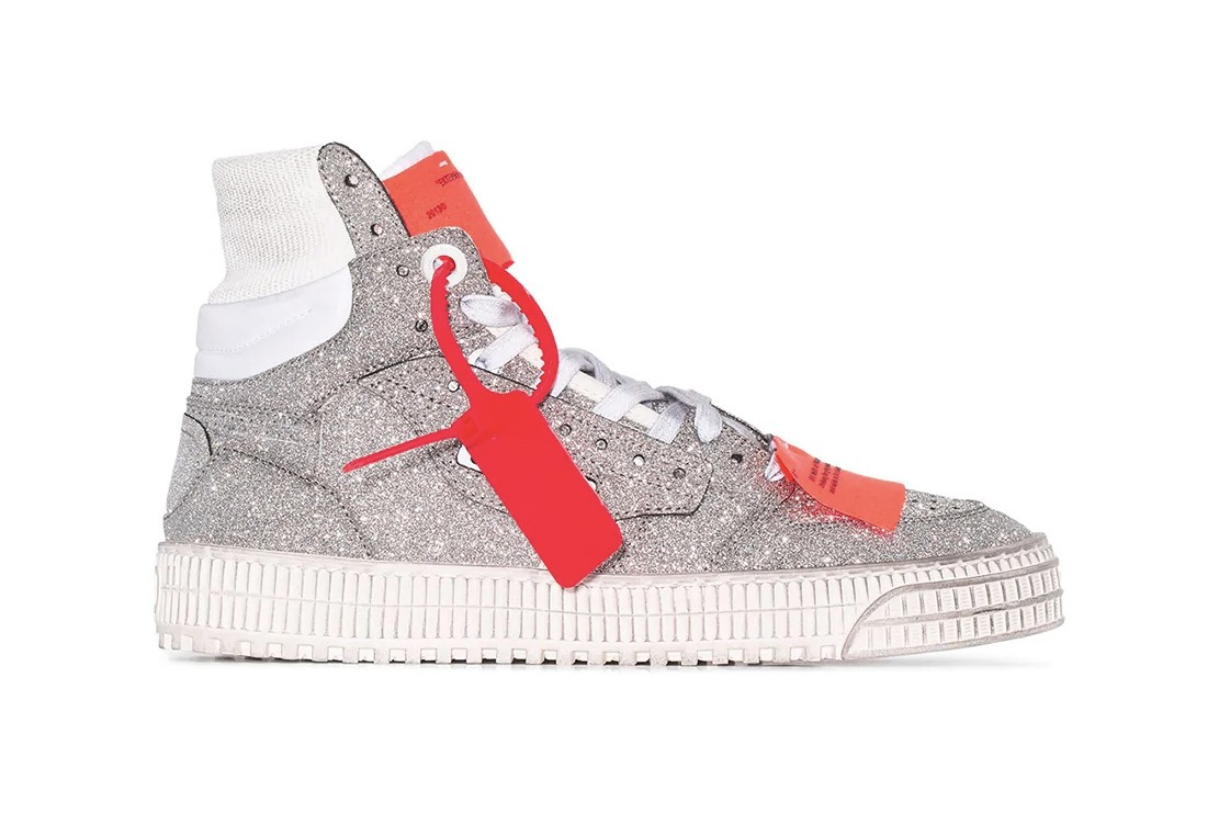 Off-White High-Top Off-Court Glitter