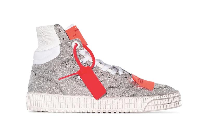 Off-White High-Top Off-Court Glitter Sneakers Trainers Virgil Abloh