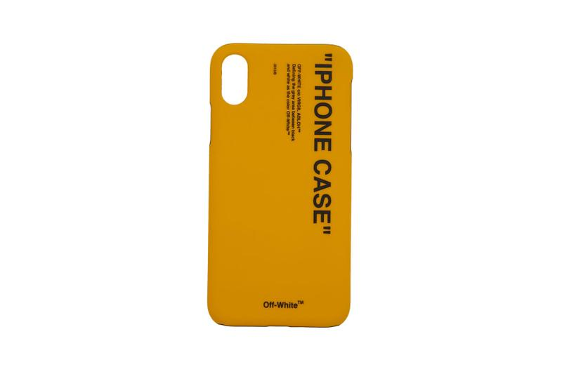 Off White iPhone X Case Quote Industrial Arrows Yellow Black