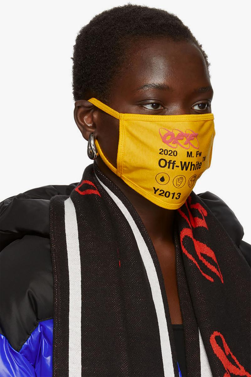off white yellow industrial y013 logo mask fashion streetwear
