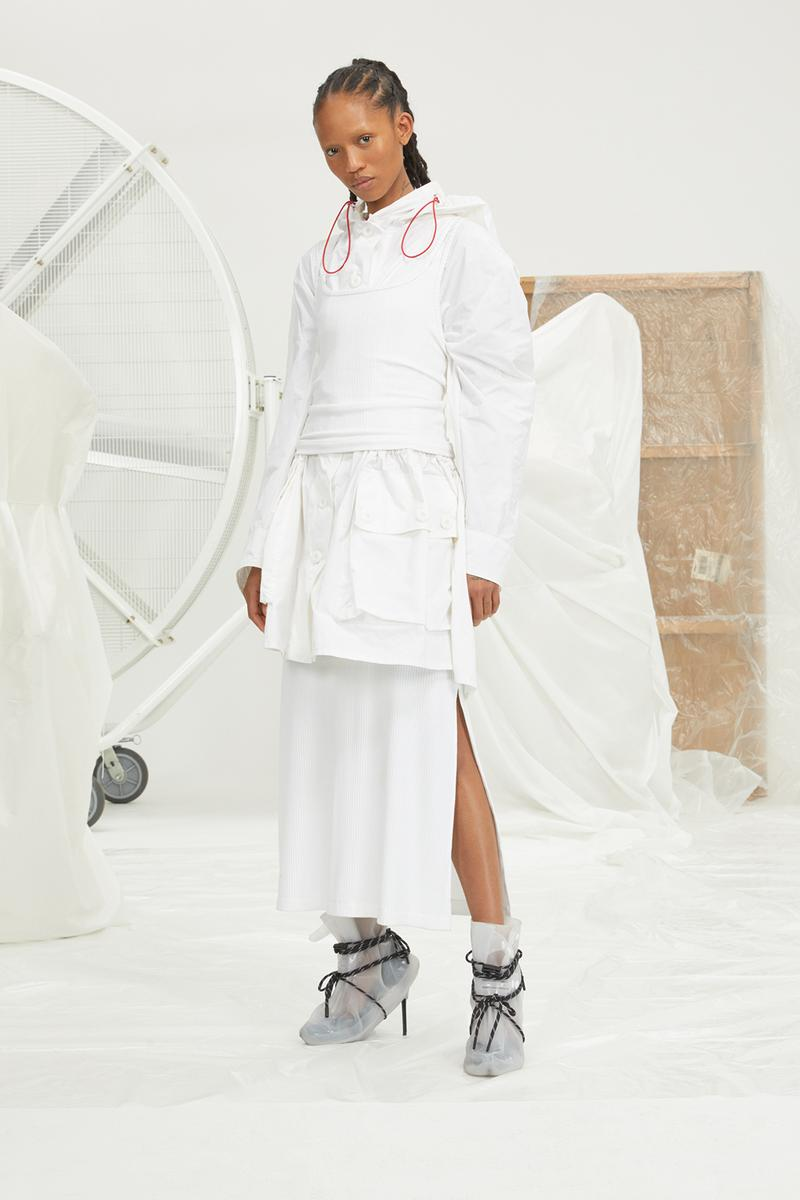perfect number woman on pedastal Adesuwa Aighewi white jacket skirt