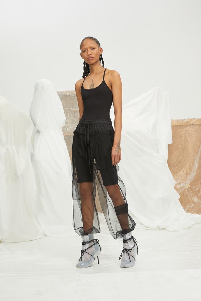 perfect number woman on pedastal Adesuwa Aighewi tulle pants black tank