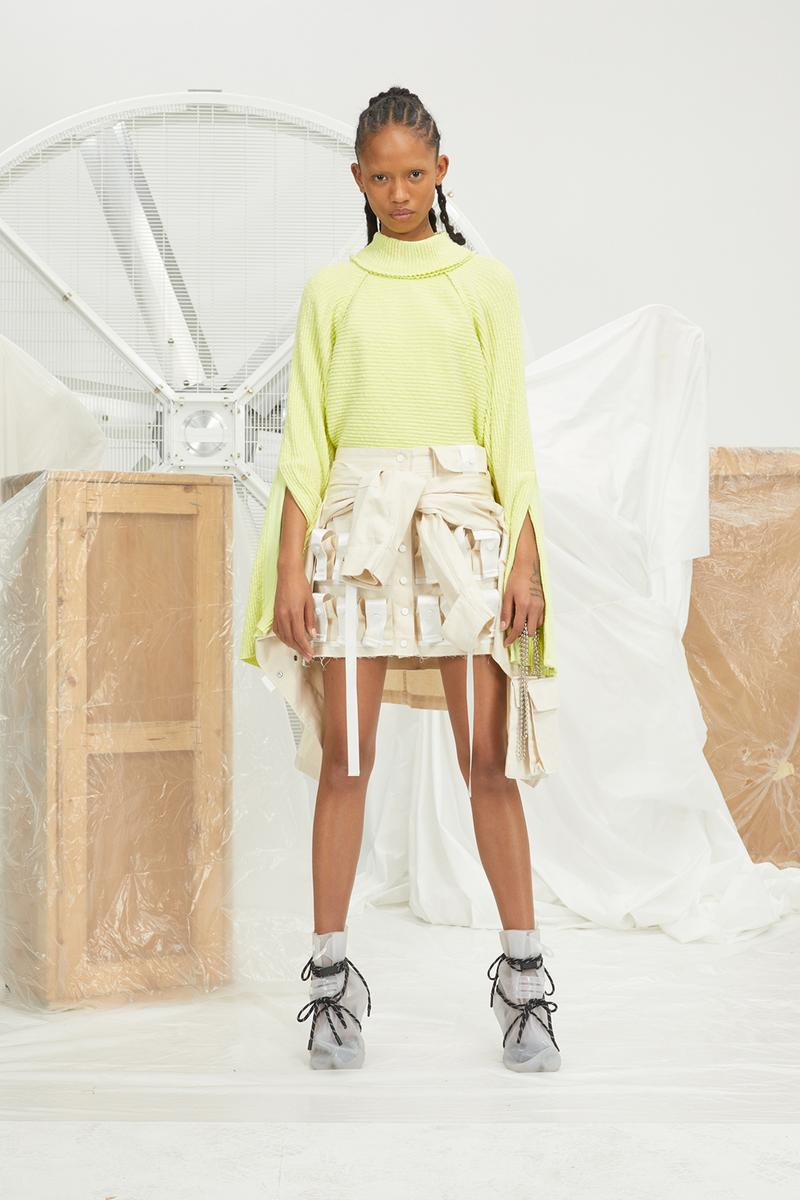 perfect number woman on pedastal Adesuwa Aighewi yellow shirt white skirt