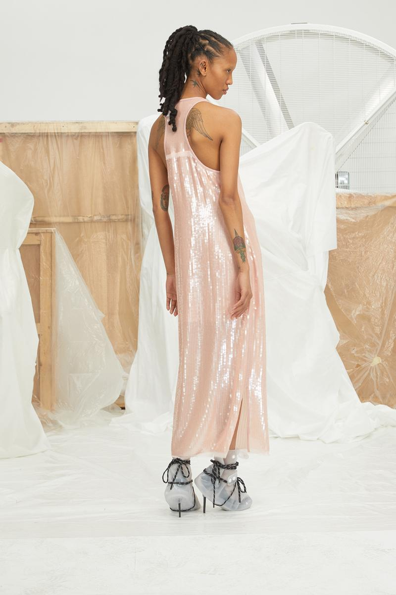 perfect number woman on pedastal Adesuwa Aighewi pink sequin dress