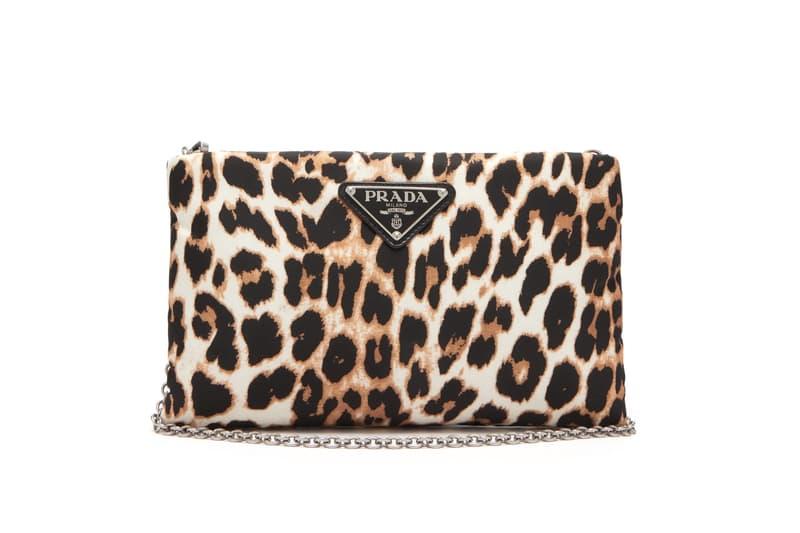 Prada Leopard Print Logo Crossbody Bag Chain Brown Beige Trendy Trend Animal Print Purse Pouch Clutch Accessory