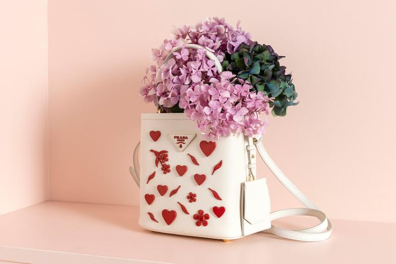 Prada Love Heart Bag and Accessories Collection Pink Red Qixi Festival Celebration Capsule