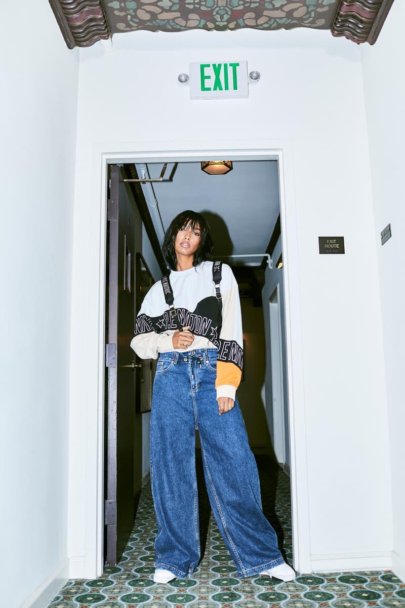 Jasmine Tookes P.E Nation Campaign Sweater Jeans