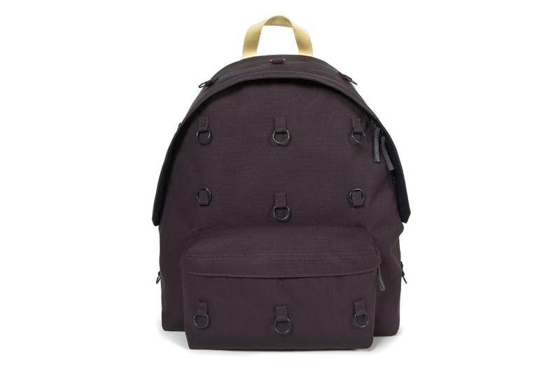 raf simons eastpak bonded metal loop backpacks paddedpakr collaboration designer bags burgundy orange grey pink anthracite yellow black matlasse