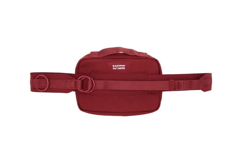 raf simons eastpak waistbag fanny pack bum bag red