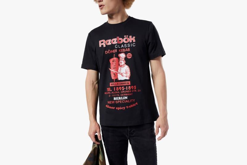 reebok classics food pack doniar kebab black t-shirt