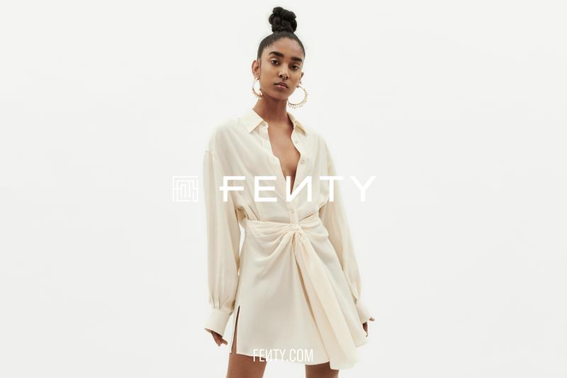 Rihanna FENTY Release 6-19 Part 2 Dress Cream