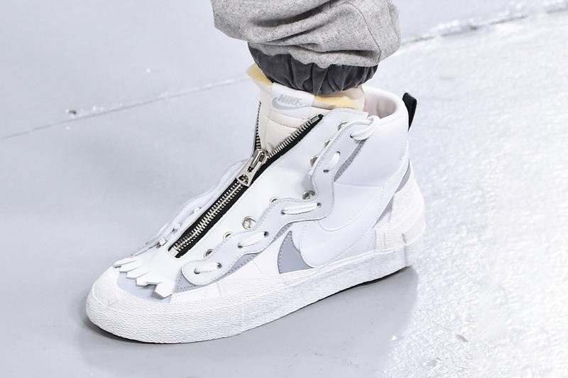 "sacai x Nike Blazer Mid ""White/Wolf Grey"" Release Date Sneaker Shoe Drop Chitose Abe First Look Monochrome Tone Footwear Trainer Collaboration"