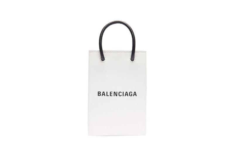 Balenciaga Phone Holder Bag Black White Gray