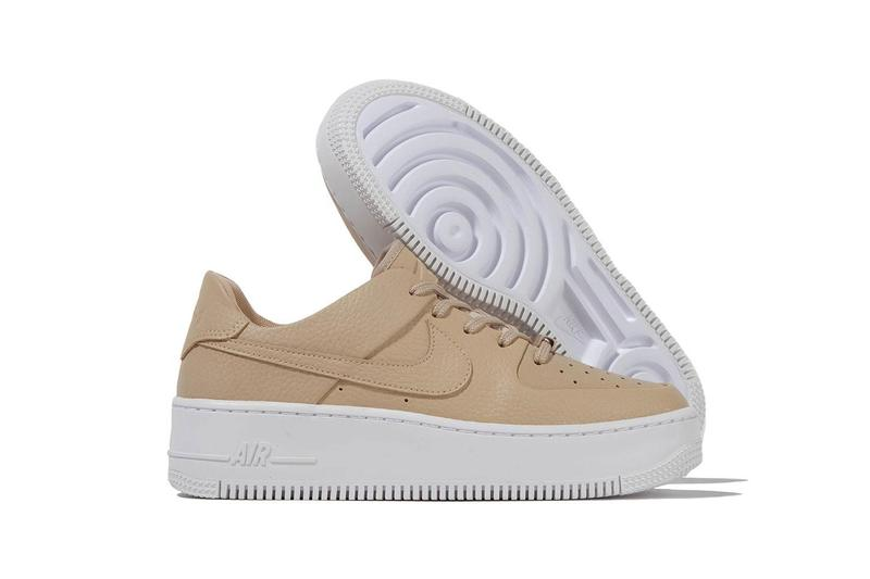 Nike Air Force 1 Sage Low Desert Ore Nude Leather Sneaker