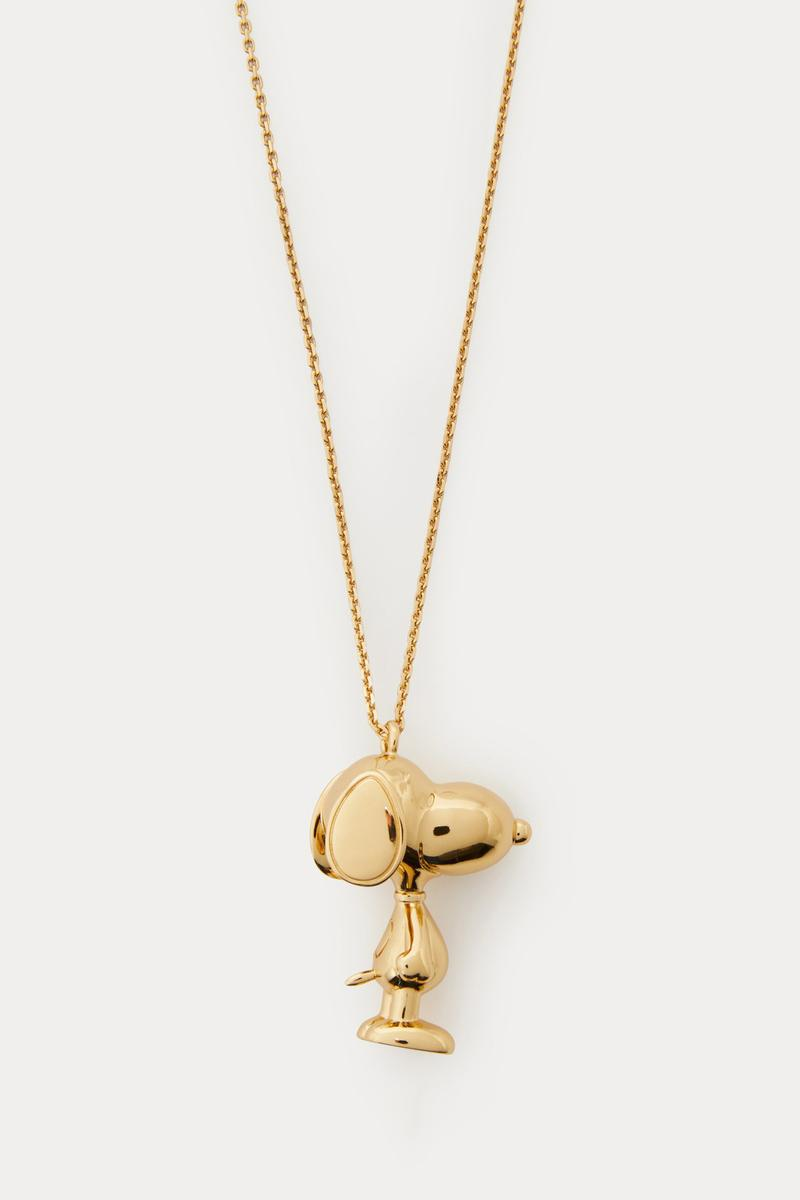 snoopy peanuts marc jacobs necklace jewelry gold