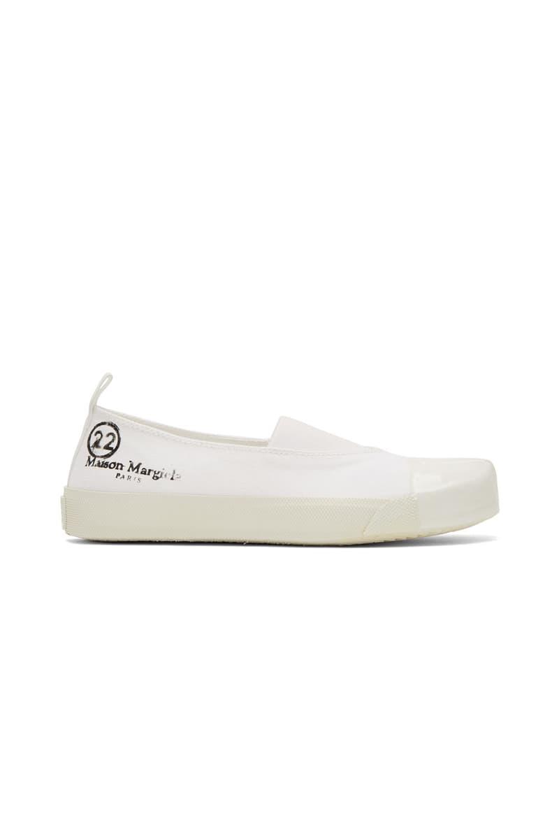 maison margiela tabi ssense boots heels keychain montreal pop up