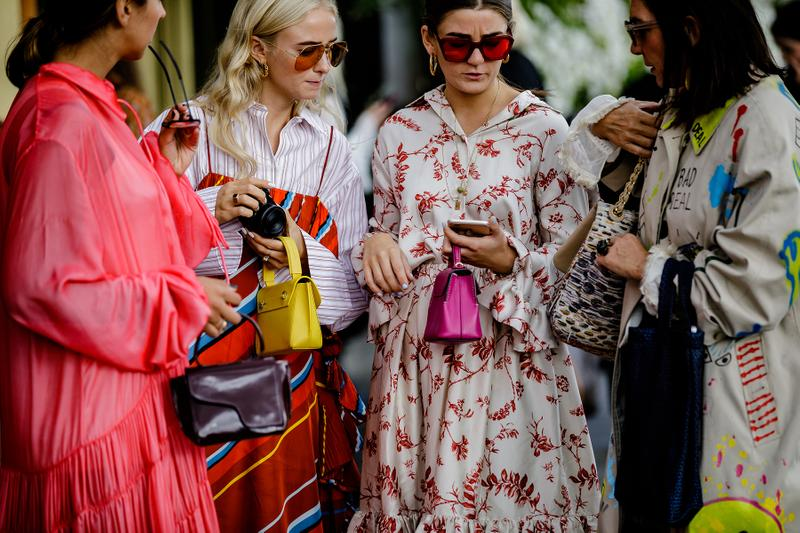 Stockholm Fashion Week Spring Summer 2019 SS19 Street Style Influencers Editors Bags Phone Sunglasses