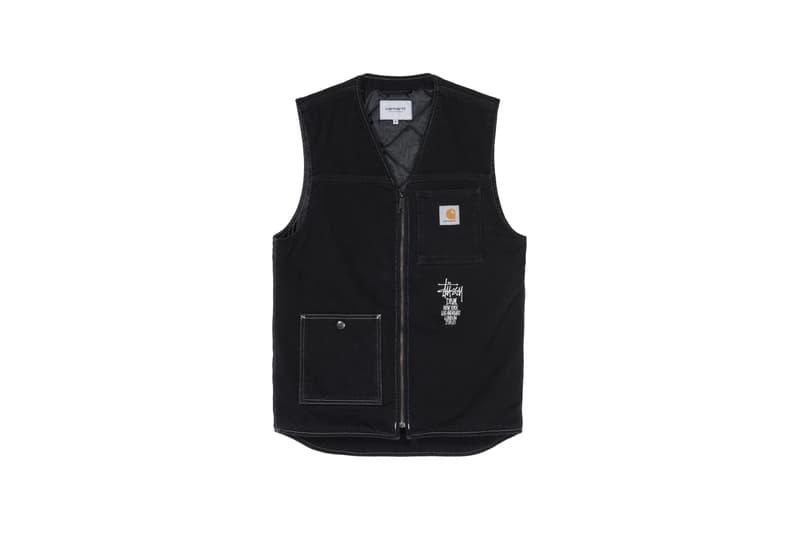 Stussy x Carharrt WIP x Dover Street Market Collaboration Vest Black