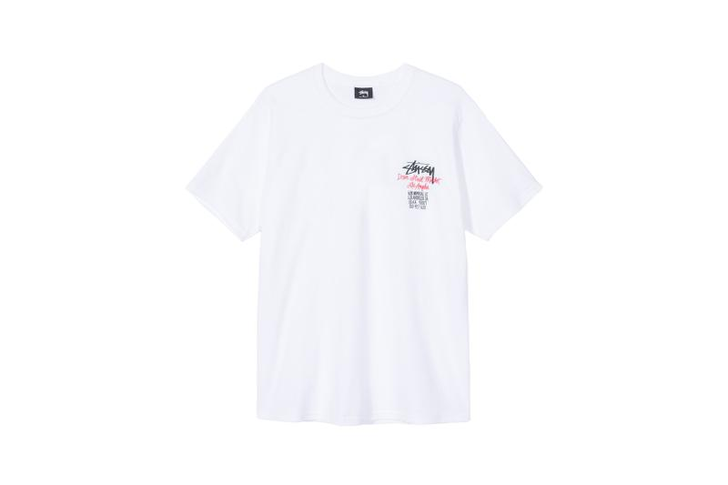Stussy x Carharrt WIP x Dover Street Market Los Angeles Collaboration T Shirt White