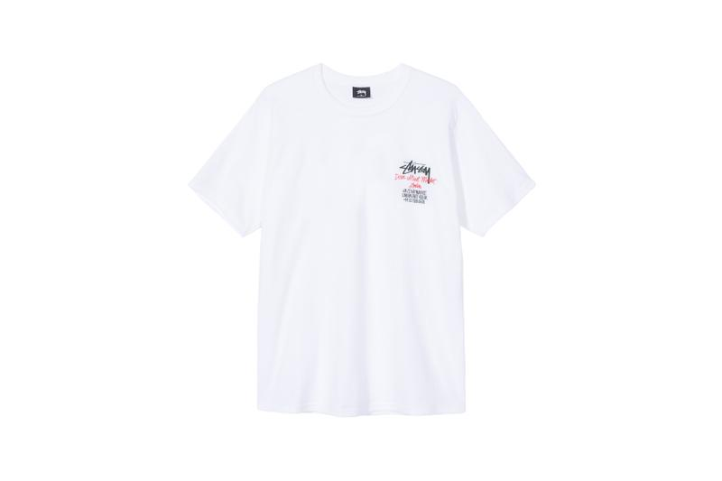 Stussy x Carharrt WIP x Dover Street Market London Collaboration T Shirt White