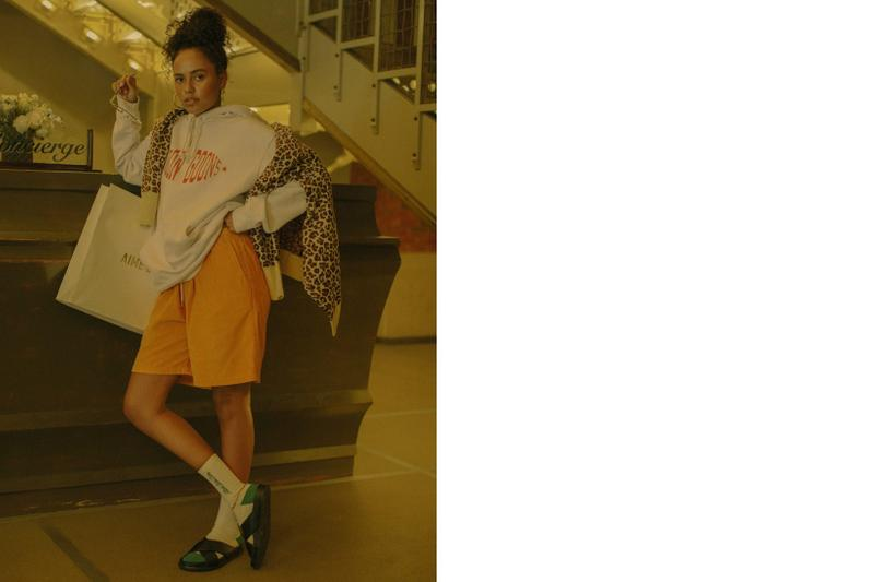 The Concept NY Summer Editorial Hoodie Grey Sweater Brown Short Orange Loafers Black
