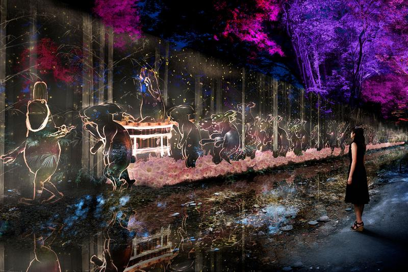 teamlab digitized forest kyoto world heritage site shimogamo shrine art exhibition museums japan