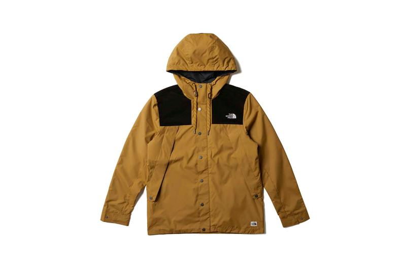 the north face back to school heritage brown wind jacket