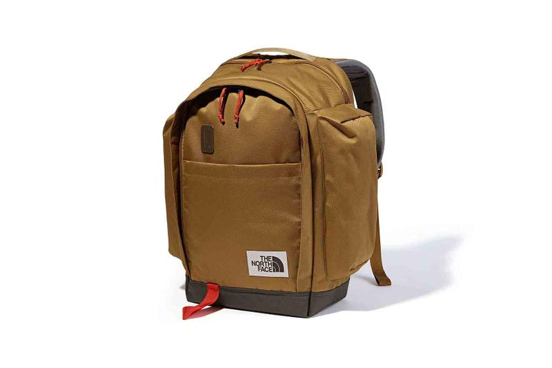 the north face back to school heritage brown backpack