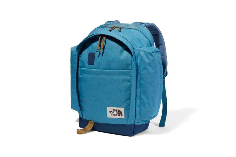 the north face back to school heritage blue backpack