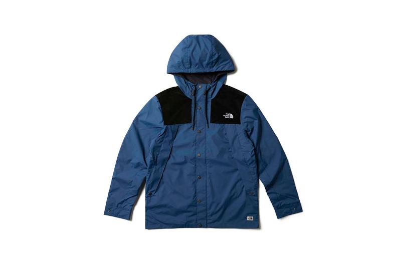 the north face back to school heritage blue wind jacket
