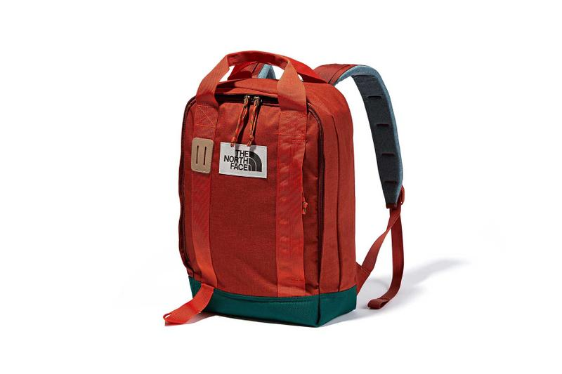 the north face back to school heritage red backpack