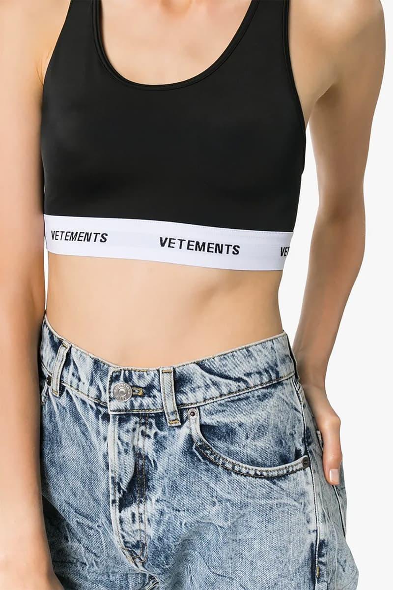 vetements logo band sports bra workout fitness gym athleisure sportswear fashion