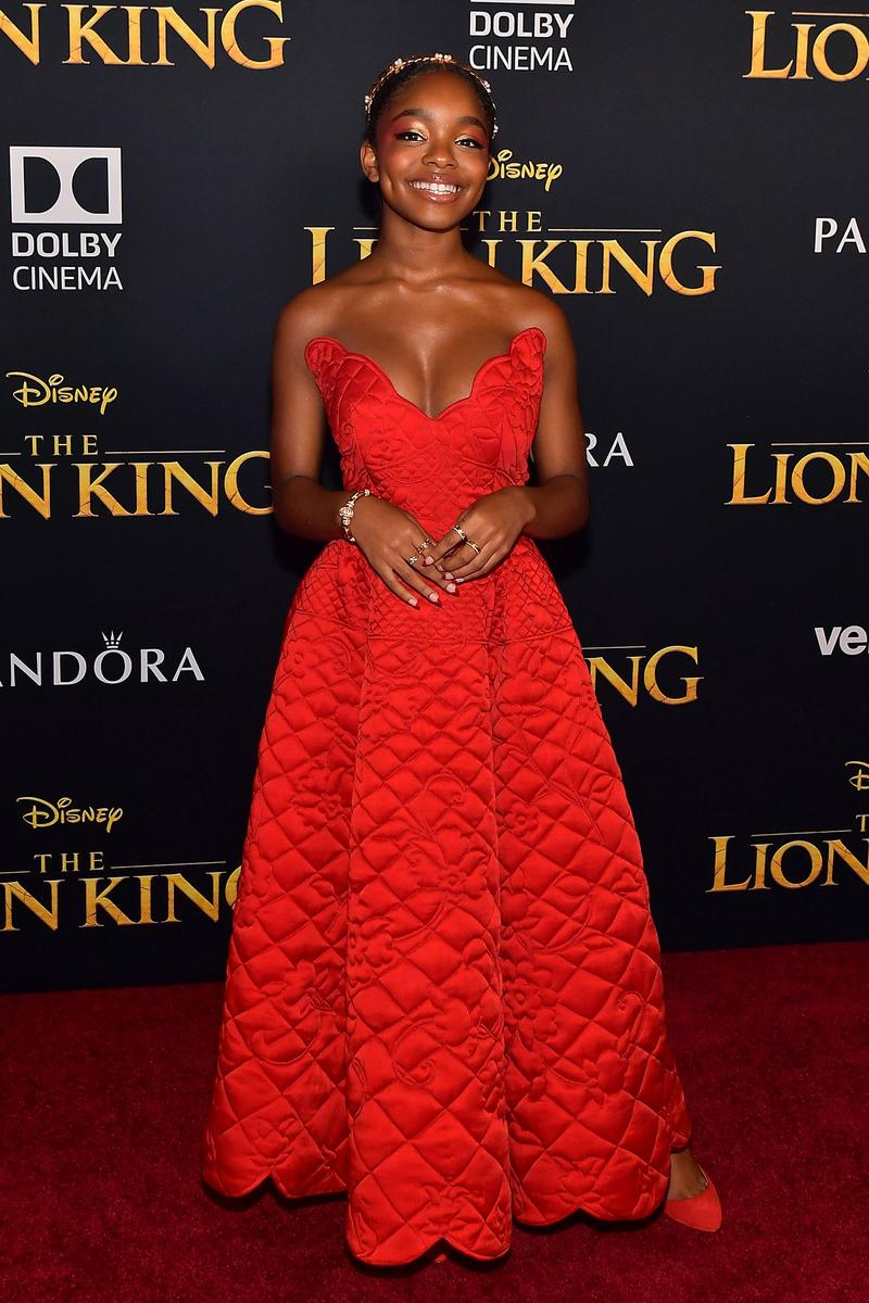The Lion King Premiere Beyonce Blue Ivy Red Carpet Film