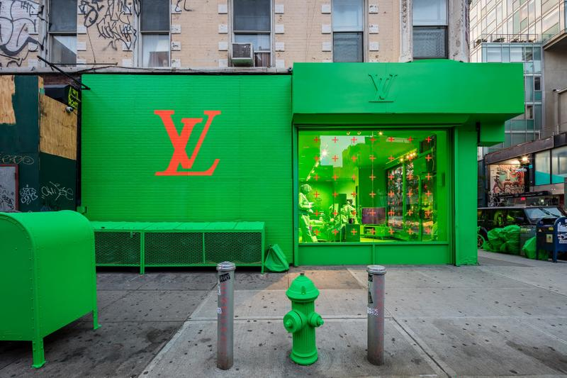 Louis Vuitton Men's Fall Winter 2019 New York City Residency Pop Up Green