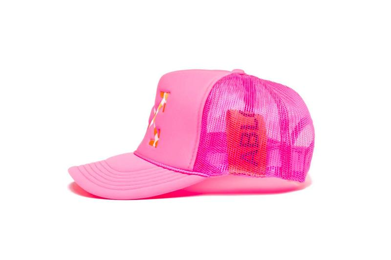 Virgil Abloh x MCA Chicago Figures of Speech Neon Collection Hat Pink