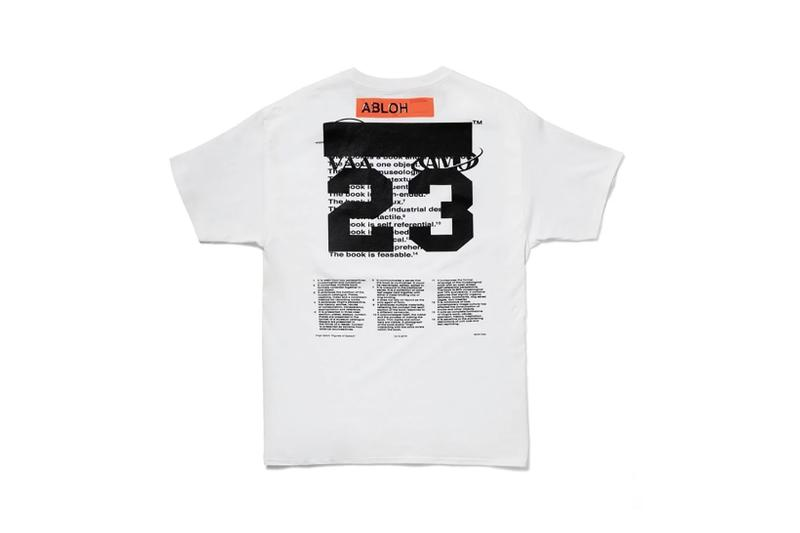 virgil abloh tshirt capsule mca chicago figures of speech exhibition champion fashion designer clothes