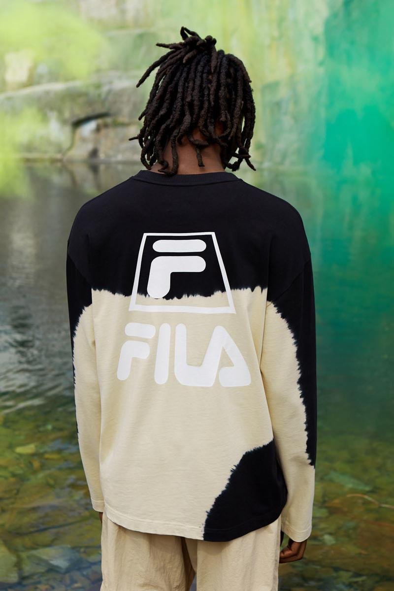 Weekday FILA Collaboration Disruptor Half Sandals 95 Sneaker Jacket Track Pants Bag T Shirt