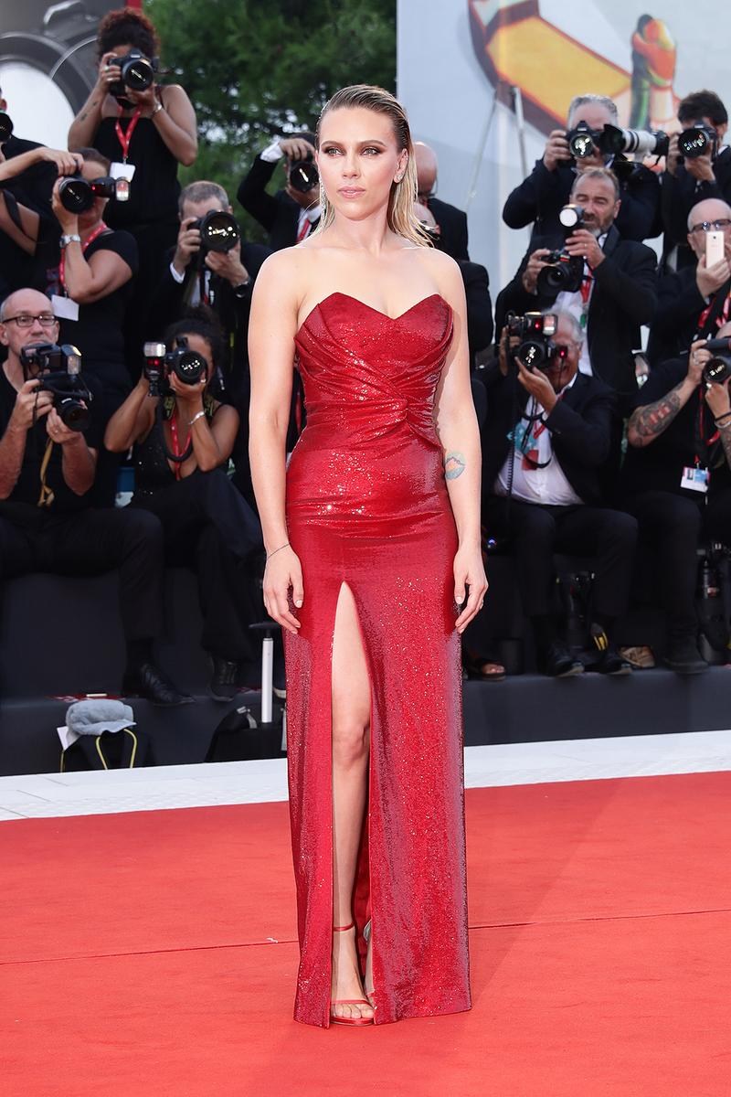 76th venice interinational film festival best celebrity looks red carpet scarlett johansson