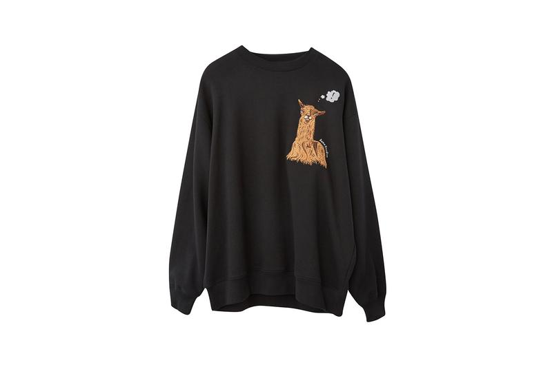 acne studios animal embroidery unisex collection fall winter sweatshirts hoodies scarves