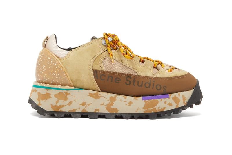 Acne Studios Berton Platform Hiking Sneakers Trainers Patterned