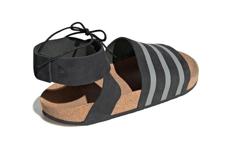 adidas Adilette Ankle Wrap Sandals Core Black Cloud White