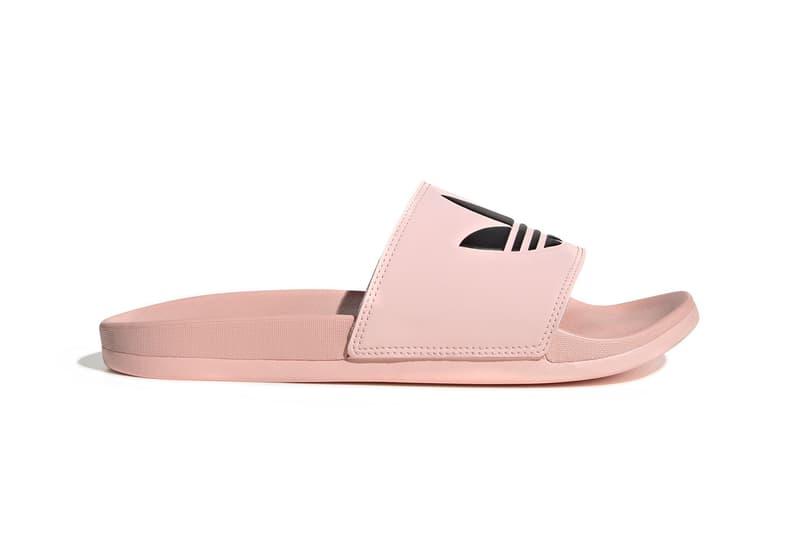 adidas adilette lite summer slides sandals pastel pink