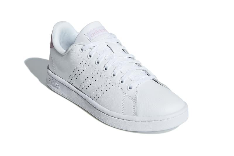adidas advantage sneakers pink white