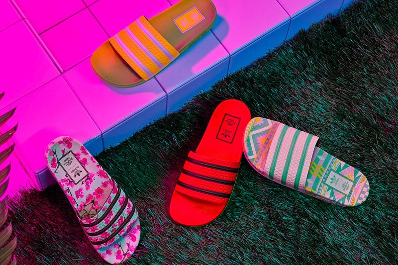 AriZona Ice Tea x adidas Collection adilette Slides Orange Yellow Pink White