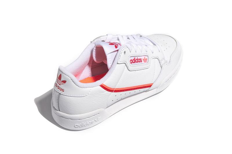 adidas originals continental 80 womens sneakers flared red orange vintage tennis