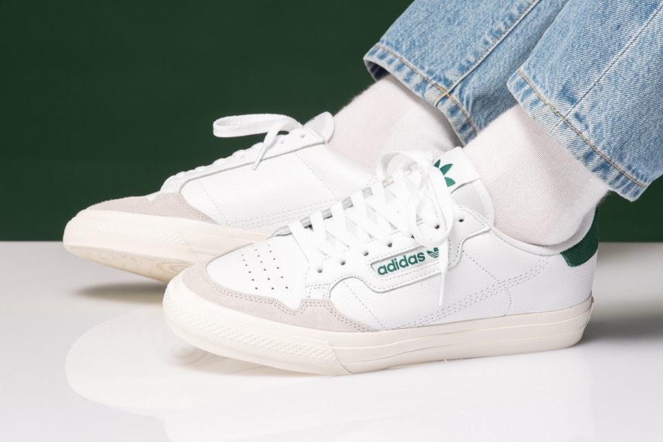 a9ce0f20cd adidas Originals Continental Vulc White Green | HYPEBAE