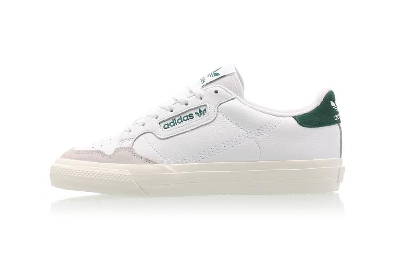 adidas originals continental vulc cloud white collegiate green sneakers sneaker