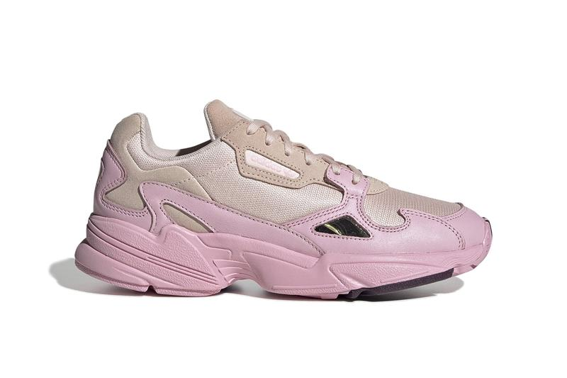 "adidas Originals Falcon ""Rosé"" Pink Release Shoe Trainer Gold Footwear Sporty Chunky Dad Shoe Pastel"